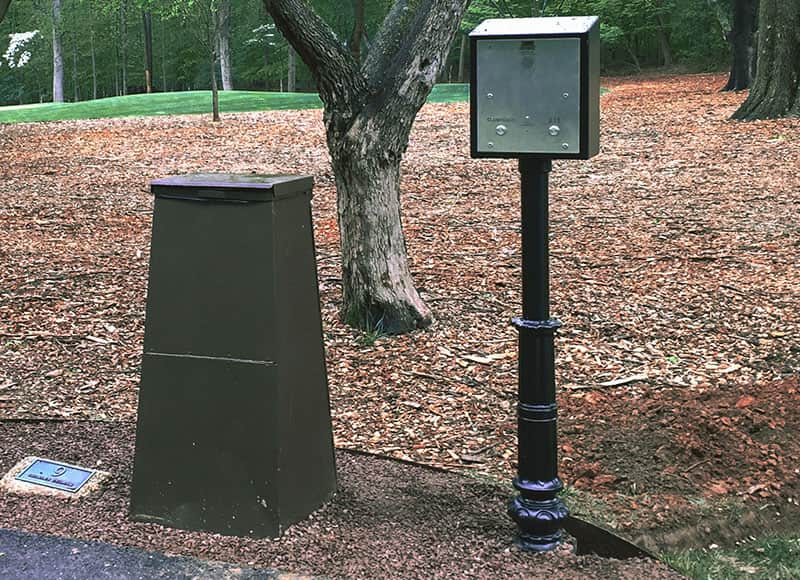Burning Tree Low Profile Box Retrofit Emergency Phone Installation