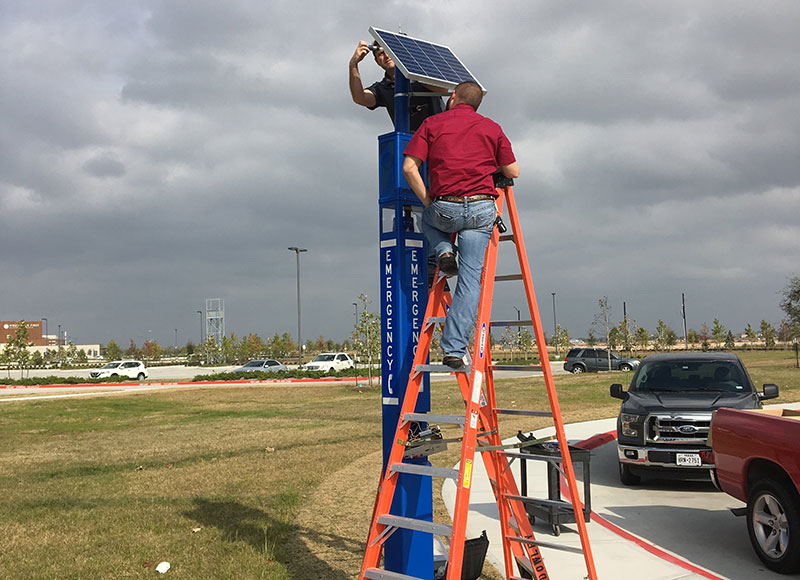 CASE Blue Light Tower Emergency Phone Installation Process