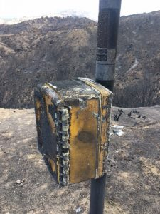 Charred Lexan Call Box