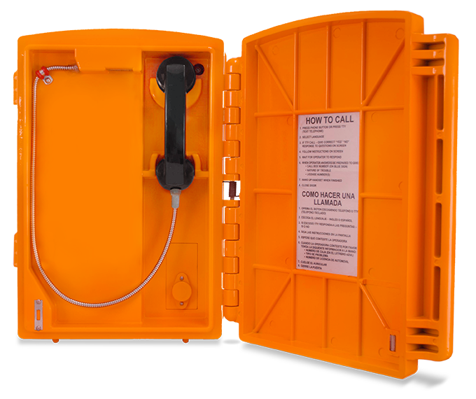 Lexan Call Box Orange