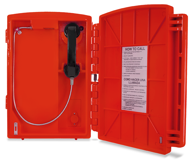 Lexan Call Box Red