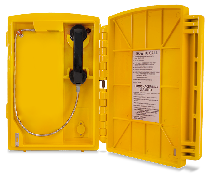 Lexan Call Box Yellow