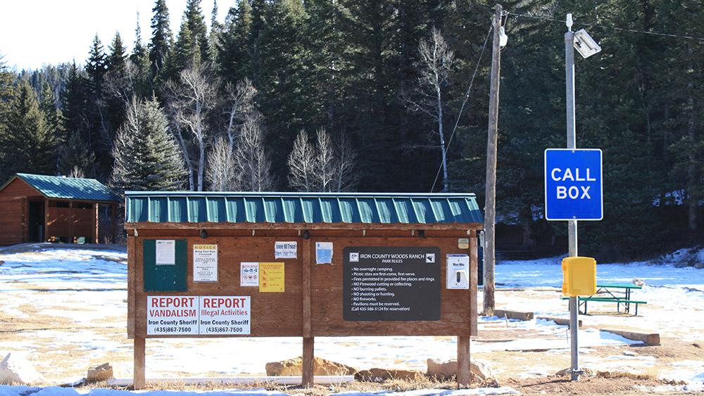 Woods Ranch Lexan Call Box Emergency Phone Installation