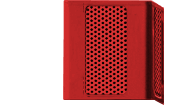 Blue Light Tower Single Red Speaker