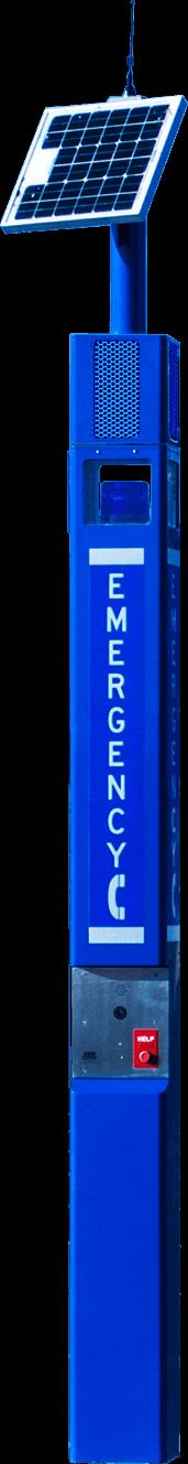 Blue Light Tower Solar WiFi Speaker Camera Strobe Emergency Phone