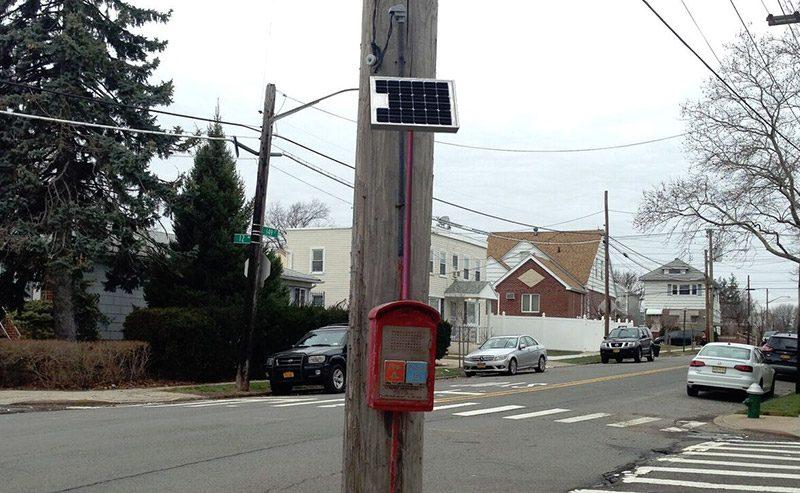 Firebox Telephone Mount Retrofit Kit Solar Panel Emergency Phone Installation