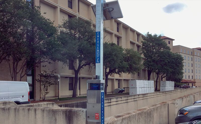 Texas State, San Marcos, E-Phone Emergency Phone Installation