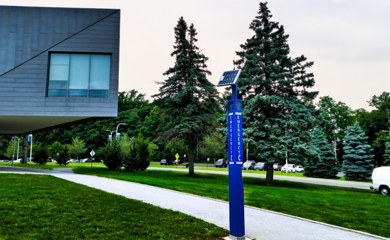 Westchester Community College Blue Light Tower Emergency Phone Installation