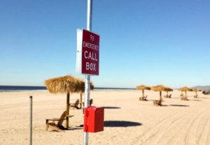 Beach Lexan Call Box Emergency Phone Installation