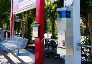 Transit Station E-Phone Emergency Phone Installation